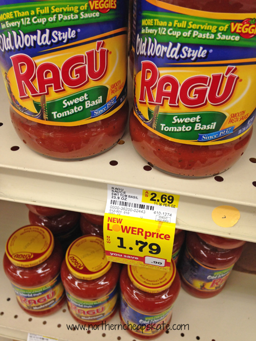 Lower Prices on Pasta Sauce at Cub