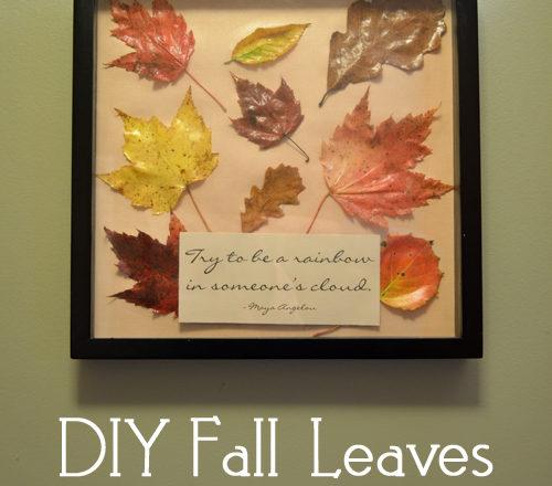 DIY Fall Leaves Wall Art