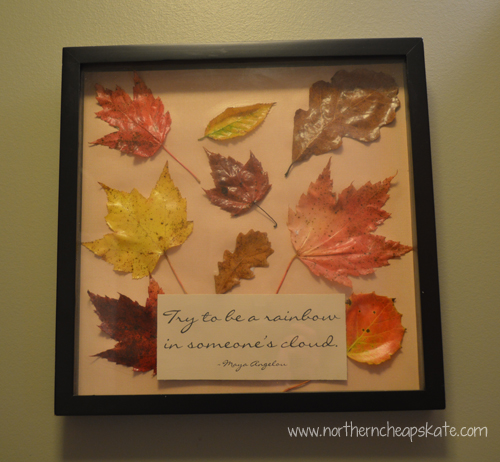 DIY Fall Leaves Wall Art - Finished Project
