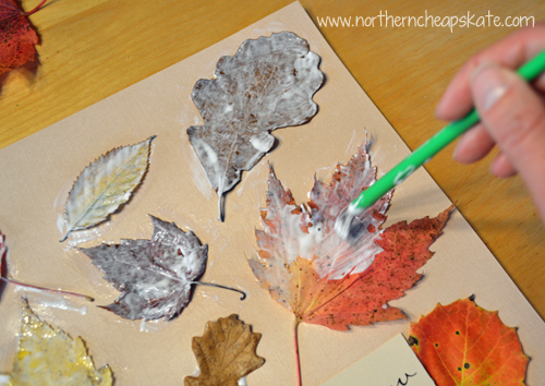 DIY Fall Leaves Wall Art - Preserving the Leaves