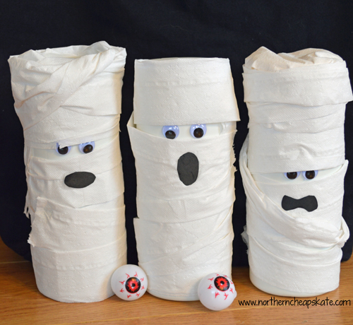 Simple Halloween Games You Can Make- Mummy Ball