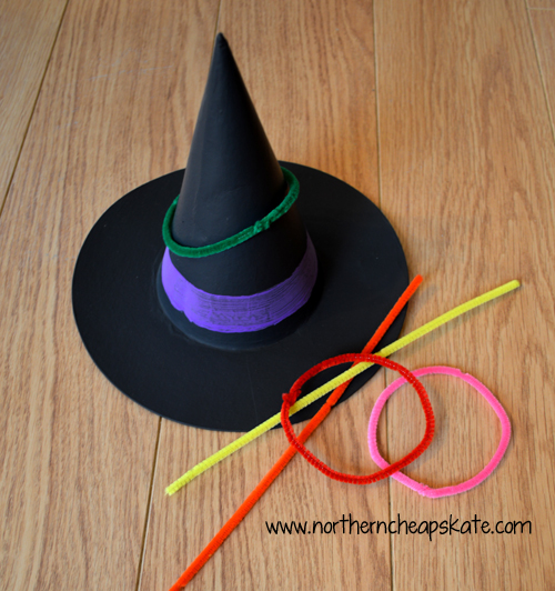 Simple Halloween Games You Can Make- Witch Ring Toss