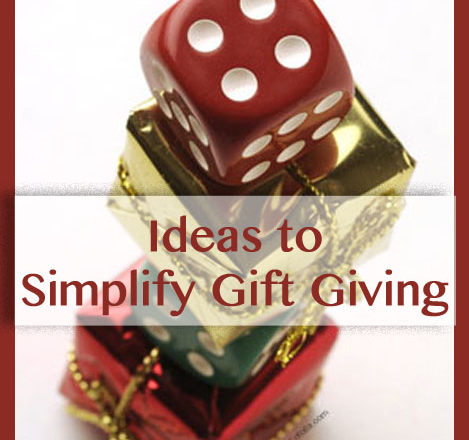 Ideas to Simplify Gift Giving