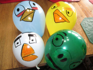 Angry Birds Birthday Party Balloons