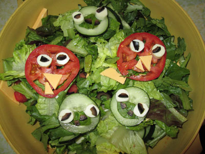 Angry Birds Birthday Party Salad
