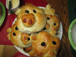 Angry Birds Birthday Party Pig Bread