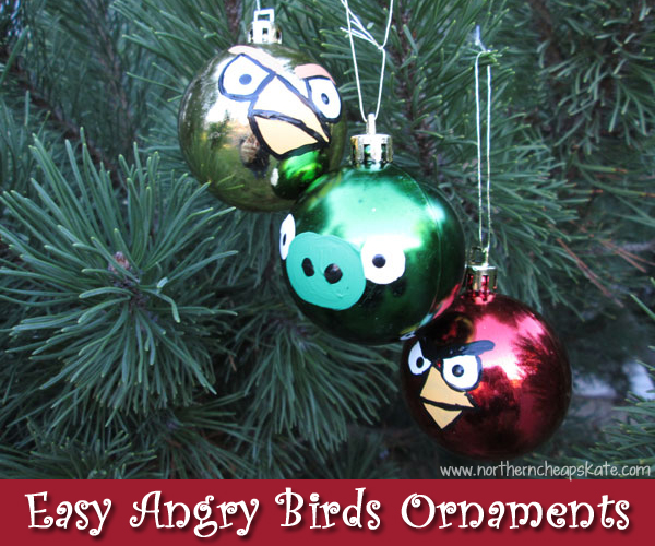 Easy Angry Birds Ornaments