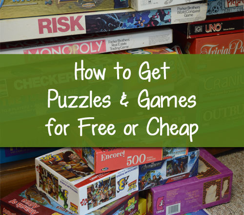 How to Get Puzzles and Games for Free or Cheap