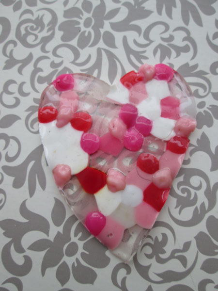 5 Simple Heart Valentine Ideas You Will Love: Melted Bead Heart Suncatcher