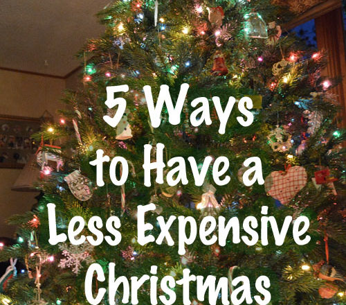 5 Ways to Have a Less Expensive Christmas