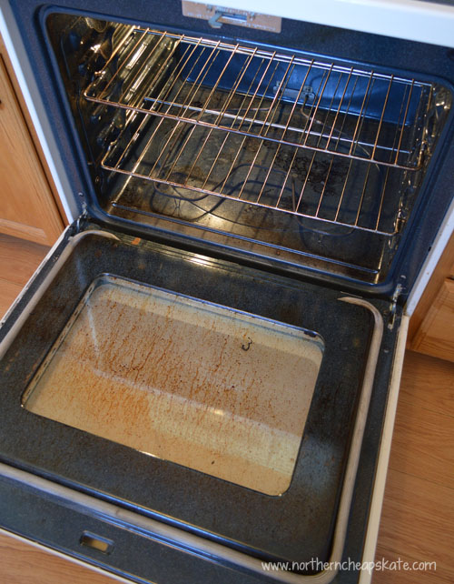 Homemade Oven Cleaner Before Picture