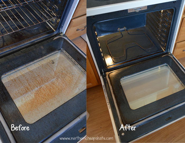 Homemade Oven Cleaner Before and After