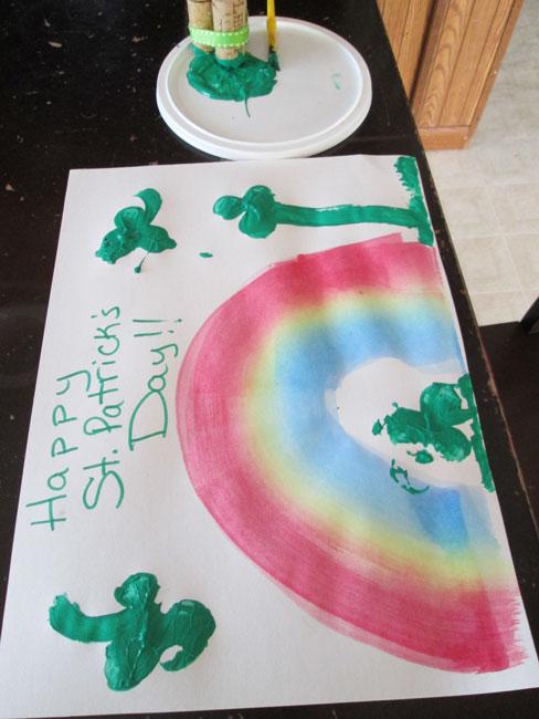 St. Patrick's Day Wine Corks Craft project