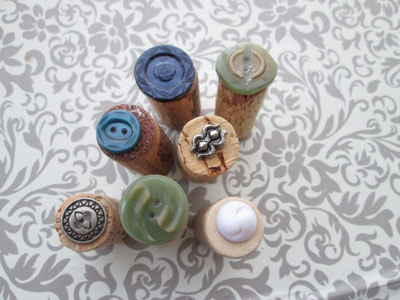 Crafts with Wine Corks: Clay Stampers