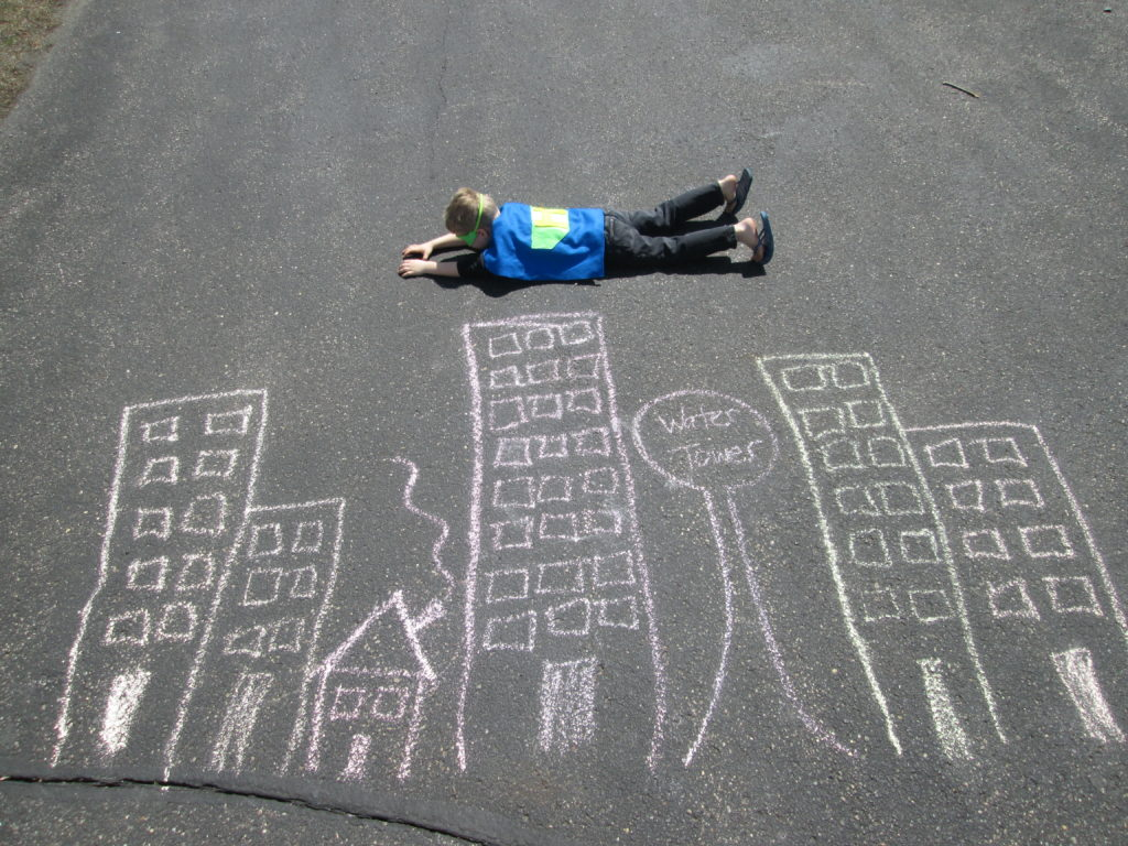 Create art with sidewalk chalk
