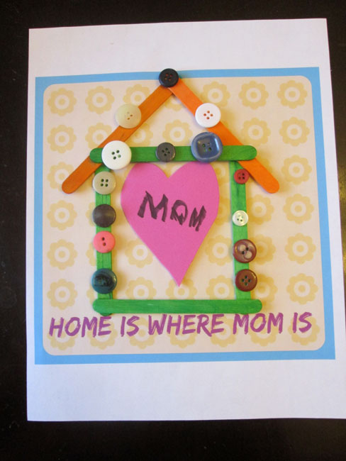 Easy Kid Projects for Mother's Day: Home Art