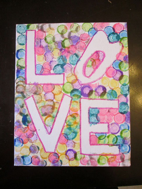 Easy Kid Projects for Mother's Day: LOVE Art