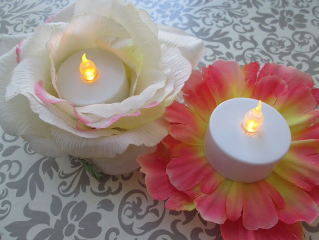 Easy Kid Projects for Mother's Day: Easy Flower Tea Lights
