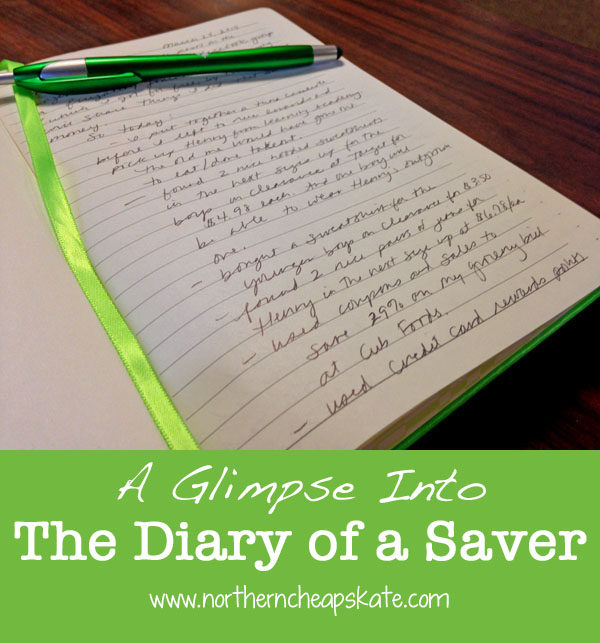 A Glimpse Into The Diary of a Saver
