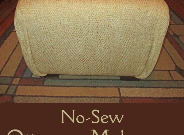 No-Sew Ottoman Makeover