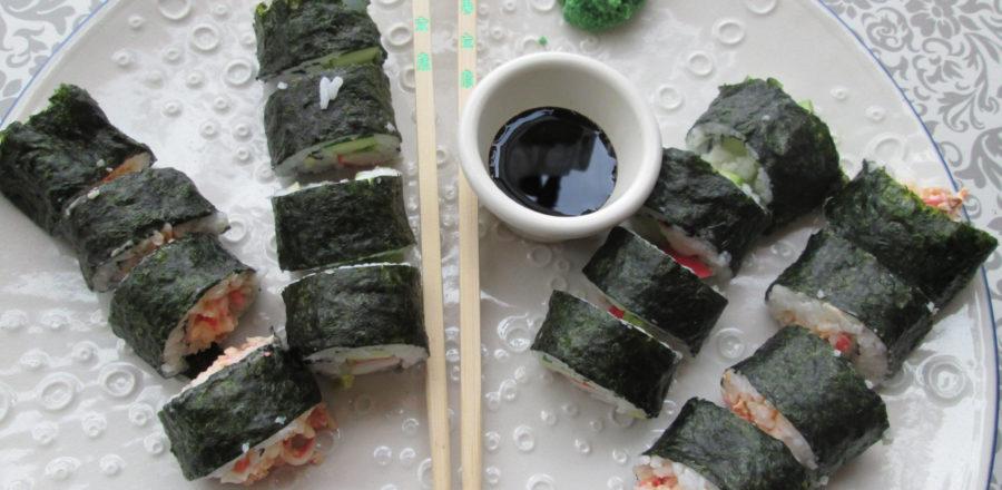 Make Your Own California Crab Sushi Rolls