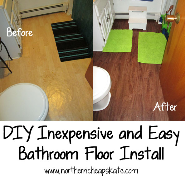 easy to install flooring for bathroom diy inexpensive and easy bathroom floor install 25253
