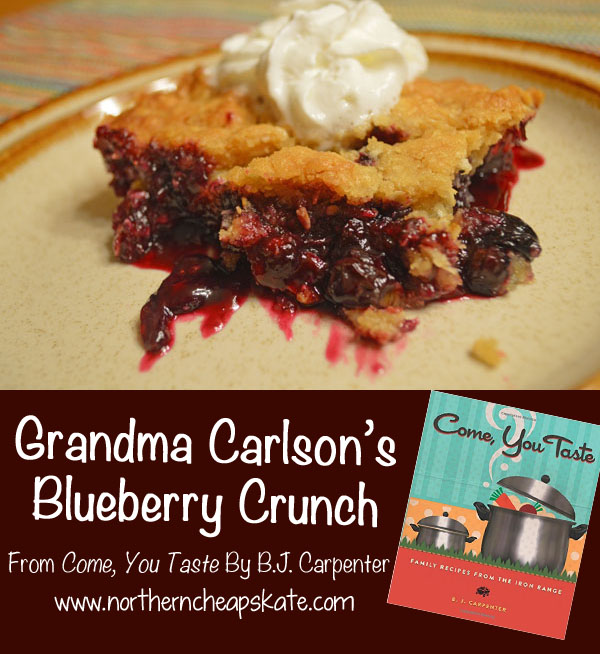 Grandma Carlson's Blueberry Crunch