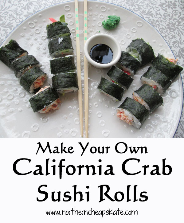 Make Your Own California Crab Sushi Rolls