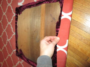 How to Recover a Dining Room Chair: Cutting the Fabric to the Right Size