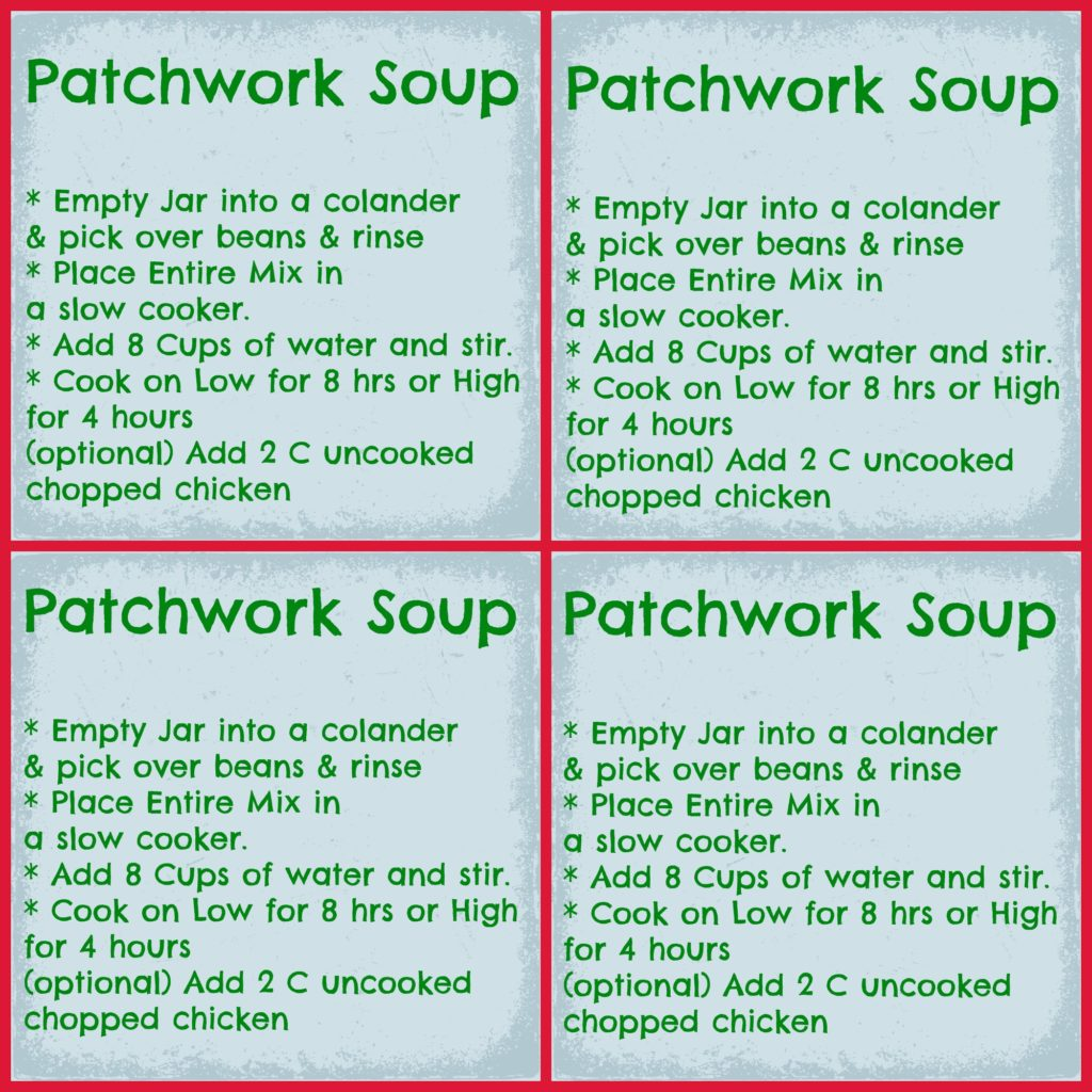 Patchwork Soup In A Jar Printable Labels