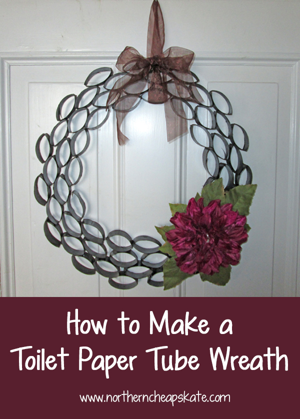 How To Make A Toilet Paper Tube Wreath
