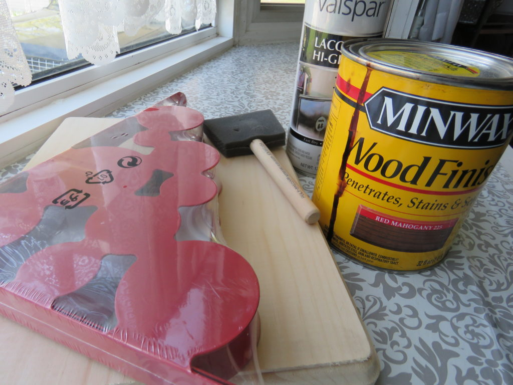 Supplies for the Simple DIY Nightstand for Small Spaces