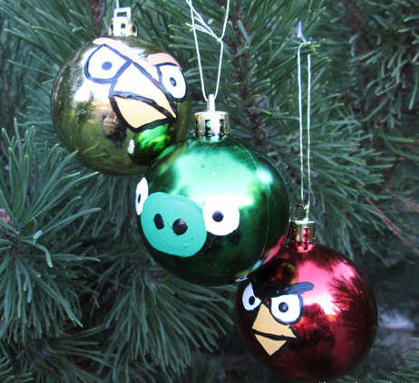 Easy Angry Bird Ornaments