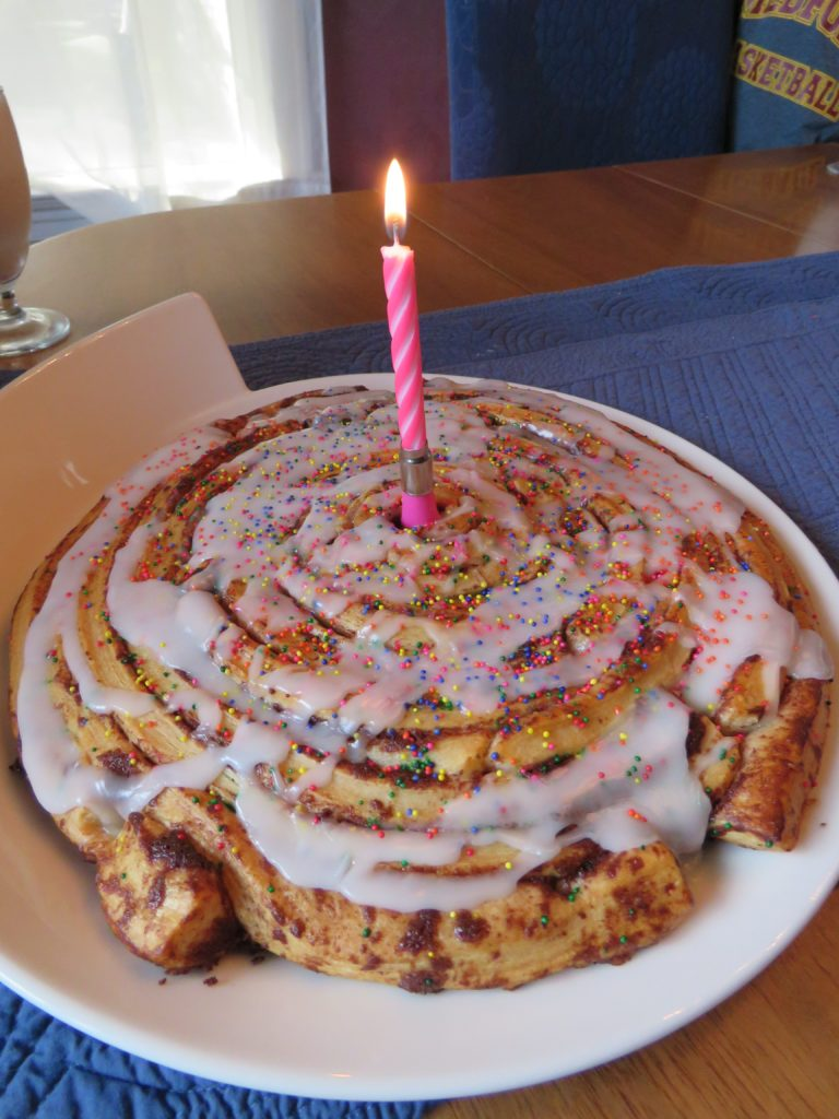 Alternatives to Birthday Cake: Cinnamon Roll Cake