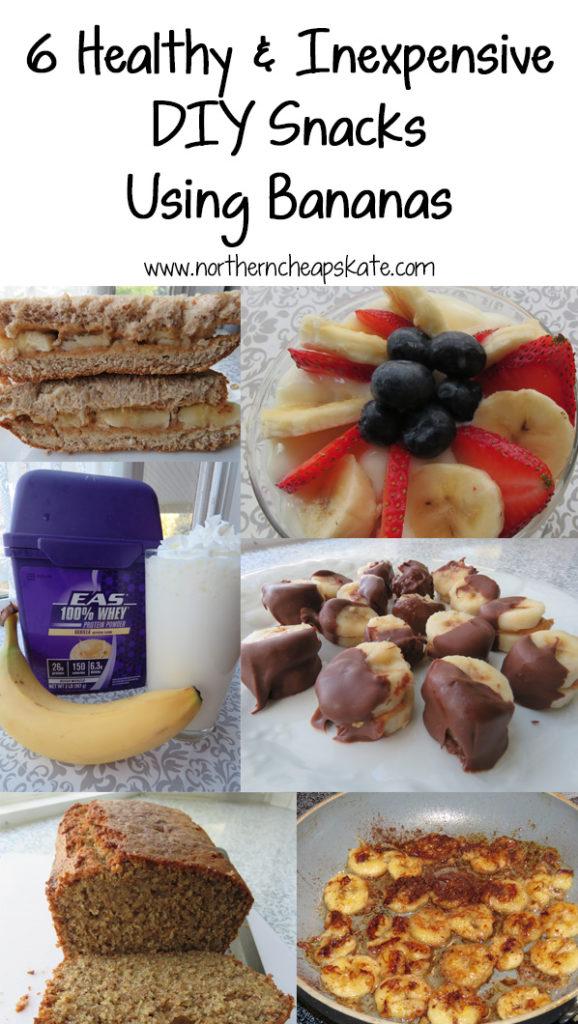 6 Healthy and Inexpensive DIY Snacks Using Bananas