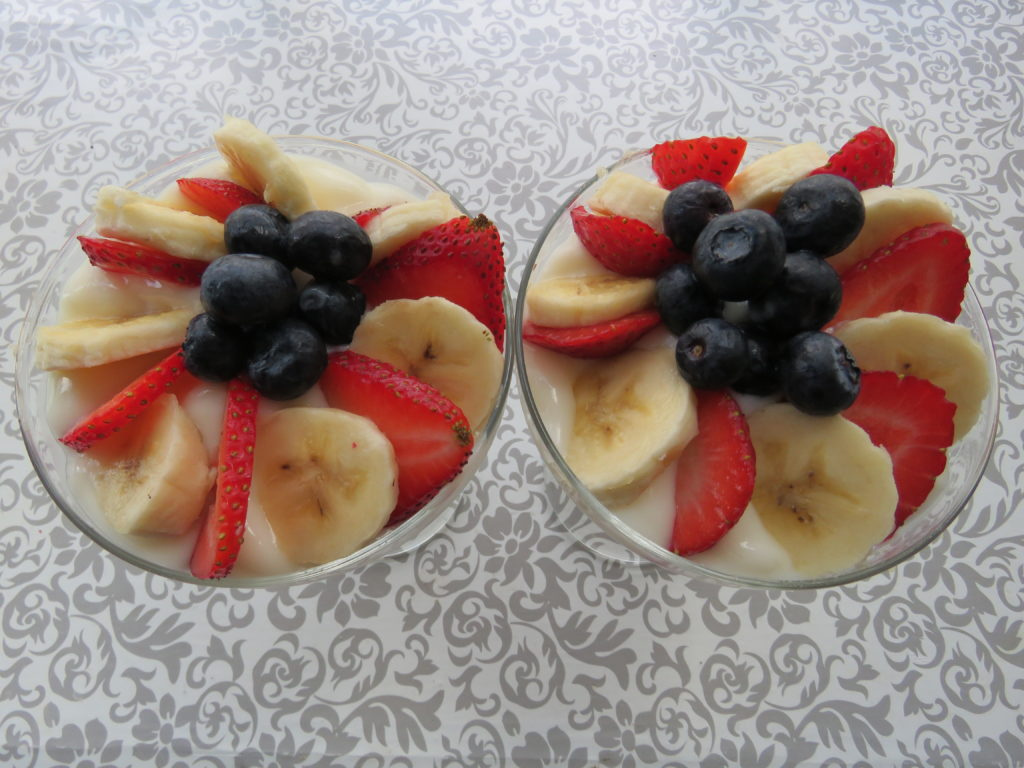 Fruit and Yogurt Parfaits Made With Bananas