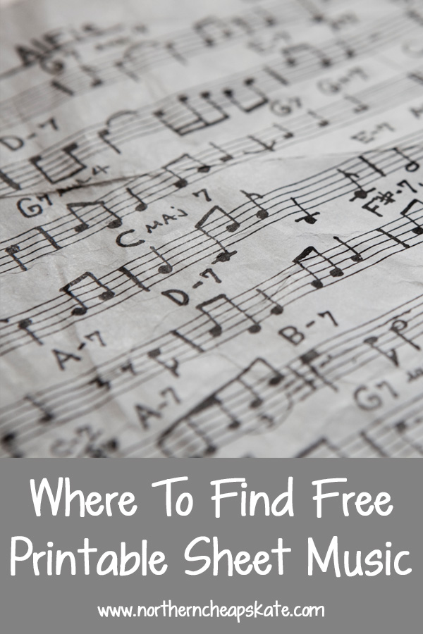 Where To Find Free Printable Sheet Music